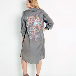 Anna Scholz Dragon Shirt dress